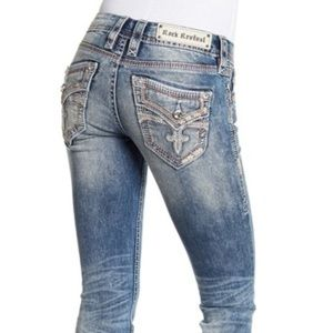 Rock Revival Luz Easy Straight Jeans. Size 29